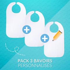 Pack 3 bavoirs au choix