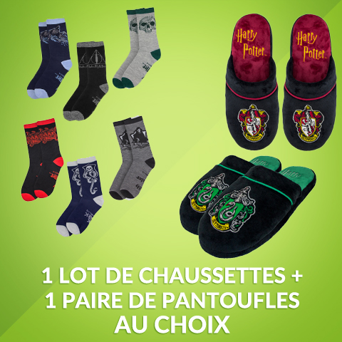 Pack chaussettes + pantoufles Harry Potter