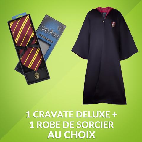 Pack cravate deluxe + robe de sorcier Harry Potter